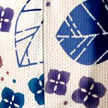 【浴衣】生成り地 紫陽花柄