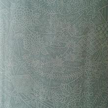 【夏・紬】明るい青磁色の染め紗紬
