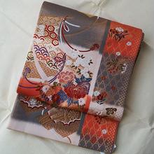 【ふくろ帯】古典御所車に四季花袋帯