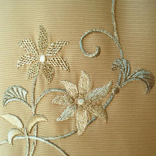 【夏・絽】伽羅色に鉄線銀刺繍附下