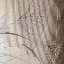 【夏・紬】細縞にススキとお月さま、紗紬の訪問着