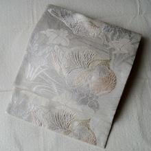 【ふくろ帯】おしどりと流水に菖蒲 絽 ふくろ帯