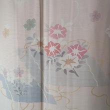 【夏・絽】薄桜色 花筏文附下
