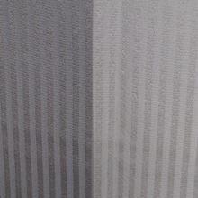 【袷】縞地紋淡灰紫暈し小紋