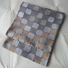 【ふくろ帯】アースカラーの石畳文洒落ふくろ帯