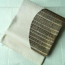 【ふくろ帯】シャンパンゴールド地に大胆な半円文洒落袋帯