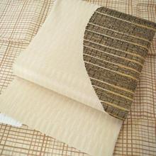 【ふくろ帯】生成り地 半月文 織洒落袋帯