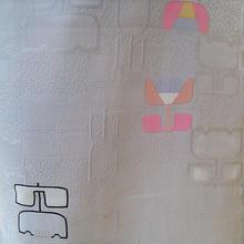 【袷羽織】ライトグレイ地に花抽象柄の羽織