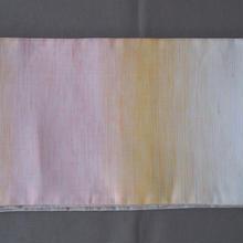【半幅帯】グラデーションカラーの麻半幅帯