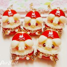 401.【オープンマウス】海賊バニーバックチャーム(赤)