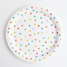 【My Little Day】 ペーパープレート/マルチカラー/8枚入り [MLD0203-MD038]