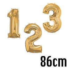 【betallic】大きなナンバーバルーン /40インチ約86cm/ブロンズゴールド