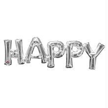 レターフレーズバルーン HAPPY シルバー  [BM0101-33100]