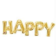 レターフレーズバルーン HAPPY ゴールド [BM0101-33755]