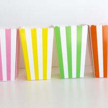 【PARTY MARKET】ポップコーンカップ/ストライプ柄12色展開(1セット:1色12枚入り)[PM2203]