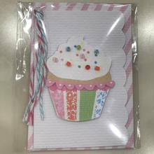 【MeriMeri(メリメリ)】メッセージカードミニ/ビーズカップケーキ [MM0401-11-2282]