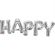 【レターフレーズバルーン】HAPPY /シルバー [BM0101-33100]