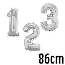 【betallic】大きなナンバーバルーン/40インチ86cm/シルバー