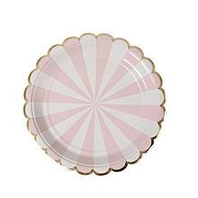 【MeriMeri】ペーパープレート/Sサイズ8枚入り/Toot Sweet ピンク [45-2121]