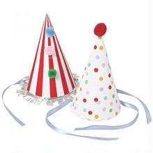【Meri Meri】 パーティーハット ドット Toot Sweet 2種×4セット 計8個(45-0878)