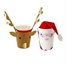 【MeriMeri】クリスマス サンタ&トナカイ ペーパーカップ [45-1863]