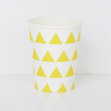 【My Little Day】  ペーパーカップ/イエロートライアングル/8個入り [MLD0202-MD020]