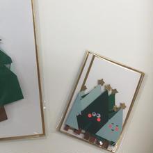 【MeriMeri】メッセージカード ミニ/HAPPY TREES COCERTINA [11-2746]