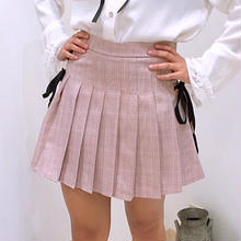チェックリボンスカート