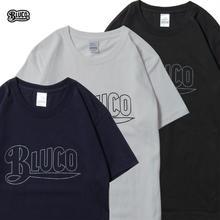 BLUCO(ブルコ)OL-800-018 SUPER HEAVY WEIGHT TEE'S -LOGO-全4色(ブラック・ホワイト・ネイビー・バーガンディ)