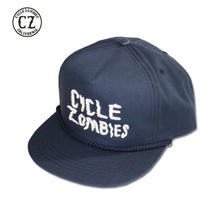 Cycle Zombies(サイクルゾンビーズ) GOOD LUCK Premium Twill Golf Snapback Hat Navy