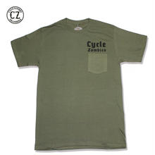 Cycle Zombies(サイクルゾンビーズ)BLITZKRIEG Premium Pocket S/S T-Shirt ミリタリーグリーン