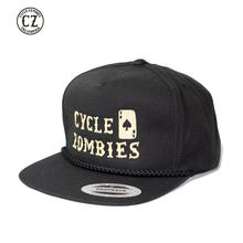 Cycle Zombies(サイクルゾンビーズ) GNAR CARD Golf Snapback Hat ブラック