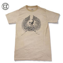 Cycle Zombies(サイクルゾンビーズ) Ripper Garage Made Pocket S/S T-Shirt Black with Paint Wash