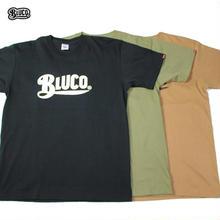 BLUCO(ブルコ)OL-805-018 SUPER HEAVY WEIGHT TEE'S -LOGO-全4色(ブラック・ホワイト・キャメル・オリーブ)