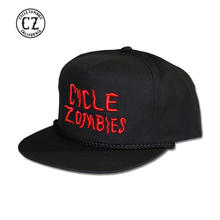 Cycle Zombies(サイクルゾンビーズ) GOOD LUCK Premium Twill Golf Snapback Hat Black