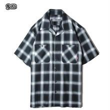 BLUCO(ブルコ) OL-108CO-019 WORK SHIRTS S/S -ombre check- 全3色(ブルー・ブラック・イエロー)