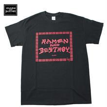 RAMEN&DESTROY Tシャツ ブラックxレッド