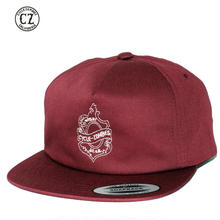 Cycle Zombies(サイクルゾンビーズ)OAKLEAF Premium Unconstructed Twill 5 Panel Snapback Burgundy
