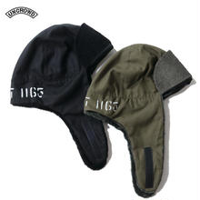 UNCROWD(アンクラウド) UC-301-018 ORIGINAL BOMBER CAP ブラック/オリーブ