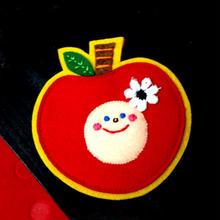 ぽんめのこりんごKAOブローチpink
