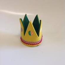 フェルト王冠ミニイエロー