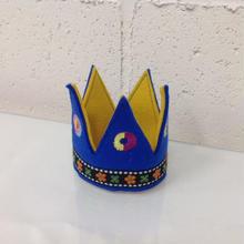 フェルト王冠ミニブルー