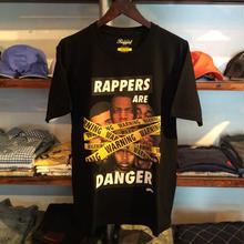 【ラス1】RUGGED RAPPERS ARE DANGER tee ブラック L