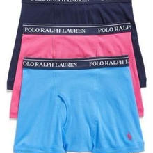 POLO RALPH LAUREN 3 PACK BOXER BRIEF ピンク L