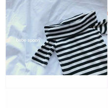 【 Kids】off-shoulder border tops