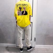 back photo tshirt (yellow)