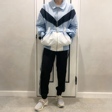 sporty line blouson (blue)