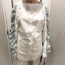 over size shirring shirt (mint)