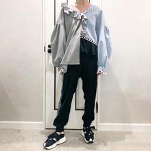 waist ruffle pants   (black)