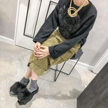 vintage design knit(black)